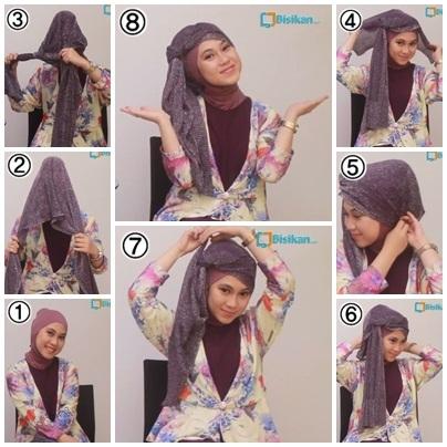 Tutorial Hijab Segi Empat untuk Pesta Terbaru