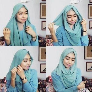 Tutorial Hijab Wisuda dengan Hijab Pashmina ala Dian Pelangi