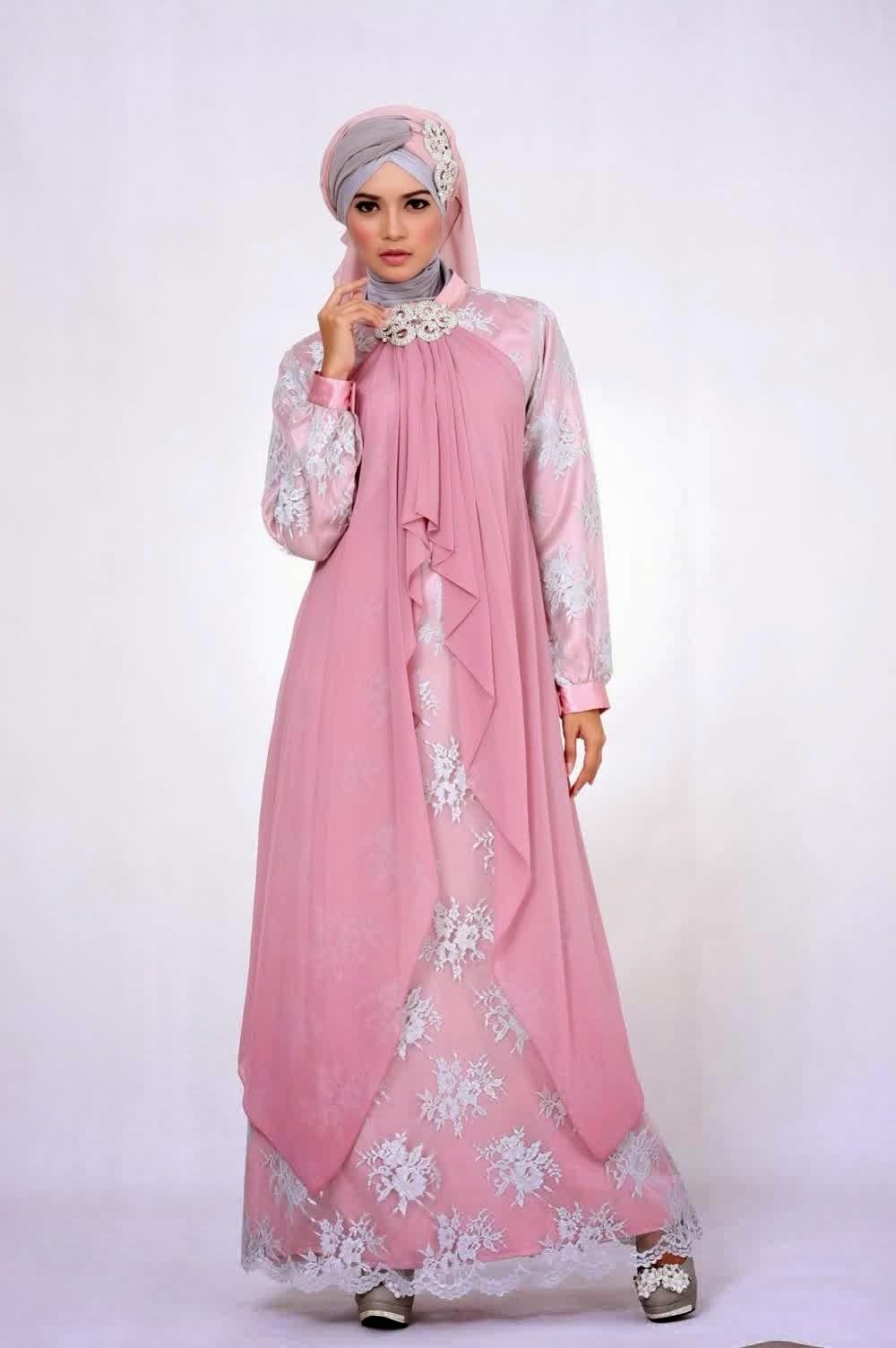 Model Baju Gamis Pesta Motif Batik Modern