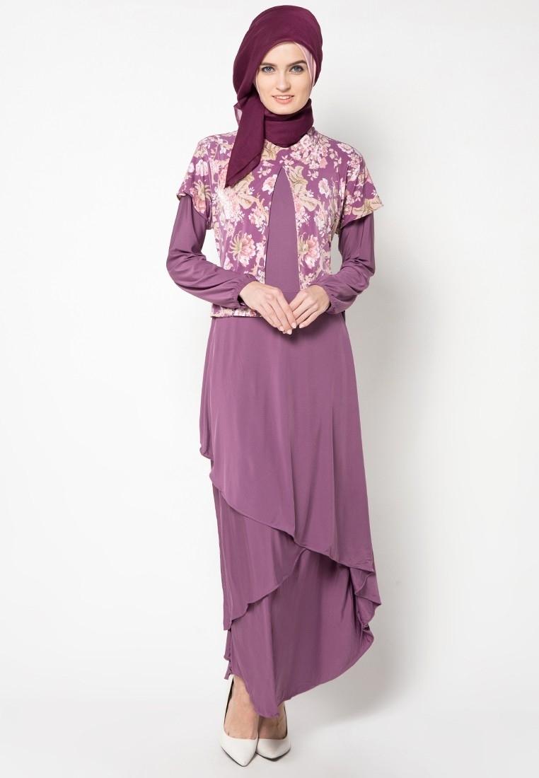 Model Baju Gamis Pesta Motif Batik untuk Suasana Semi Formal