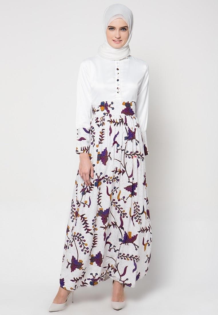 Model Baju Gamis Pesta Motif Batik Sederhana
