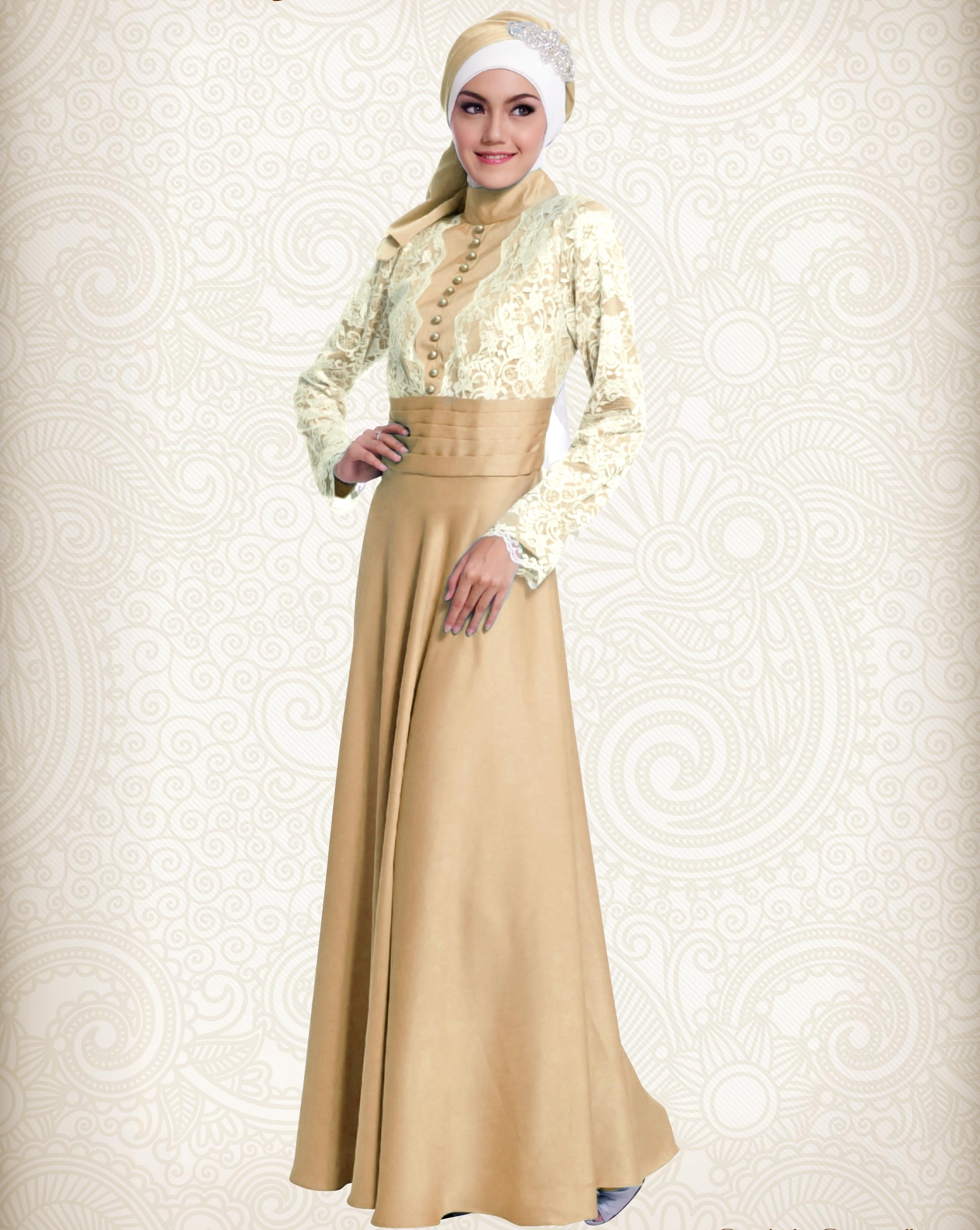 Model Baju Gamis Pesta dan Lebaran Modern
