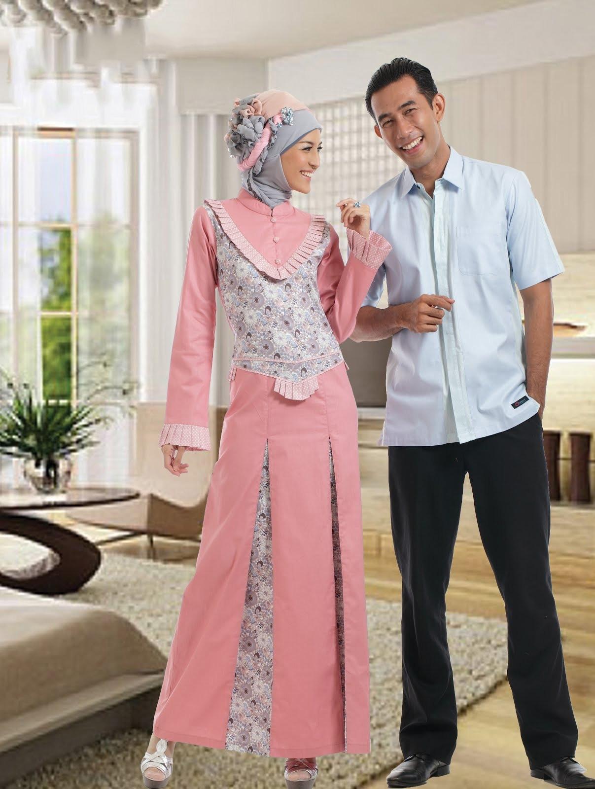 Model Baju Lebaran Keluarga dengan Motif Polos