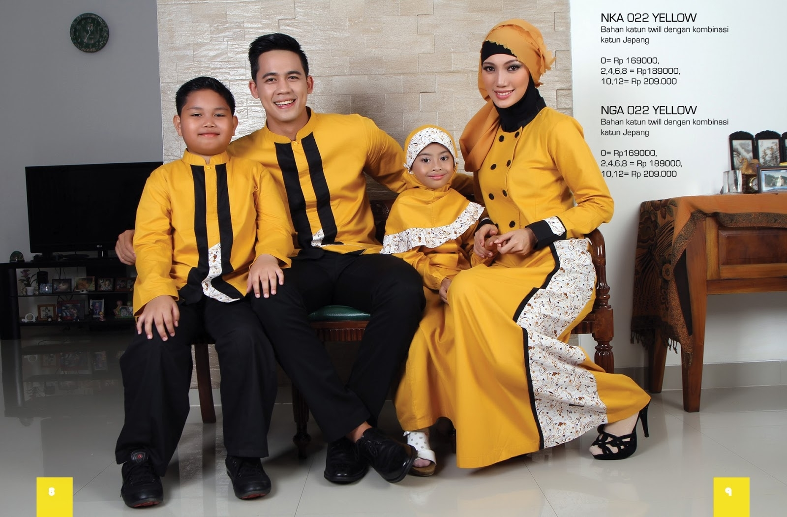 Model Baju Lebaran Terbaru untuk Keluarga 2 Anak