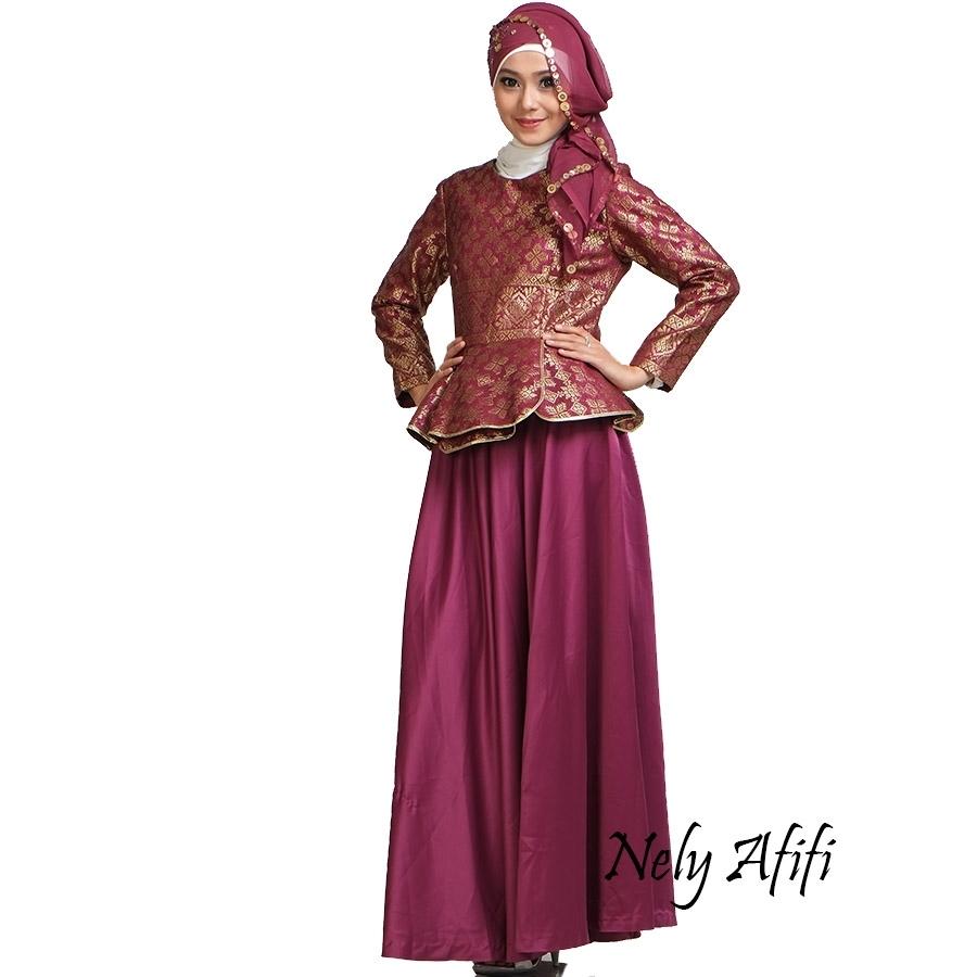 Model Gamis Satin Sebagai Referensi Baju Lebaran