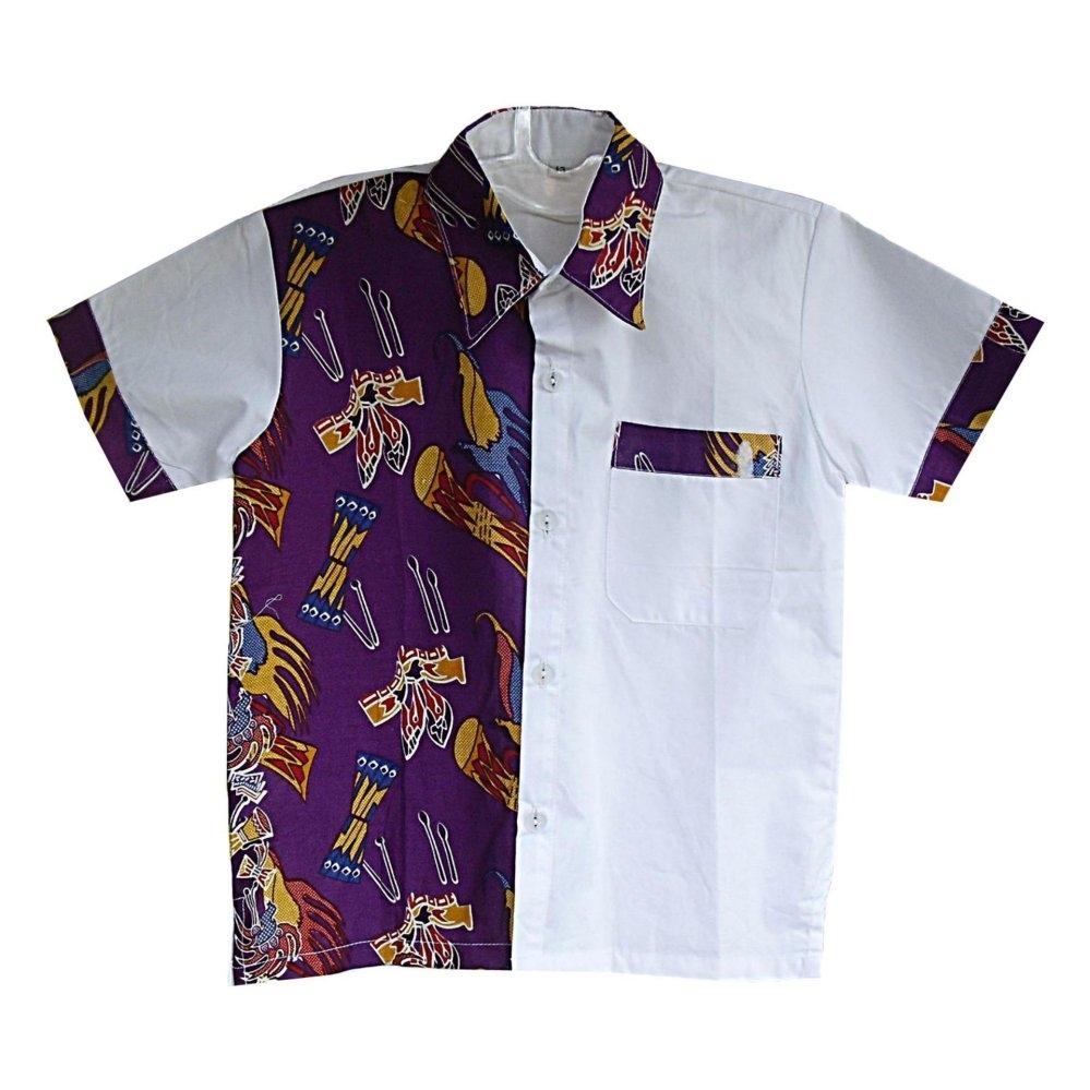 Baju Batik Anak Laki-Laki Berbahan Katun