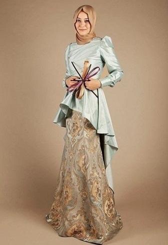 Baju Batik Kombinasi Satin untuk Wanita Muslimah Terbaik Saat Ini