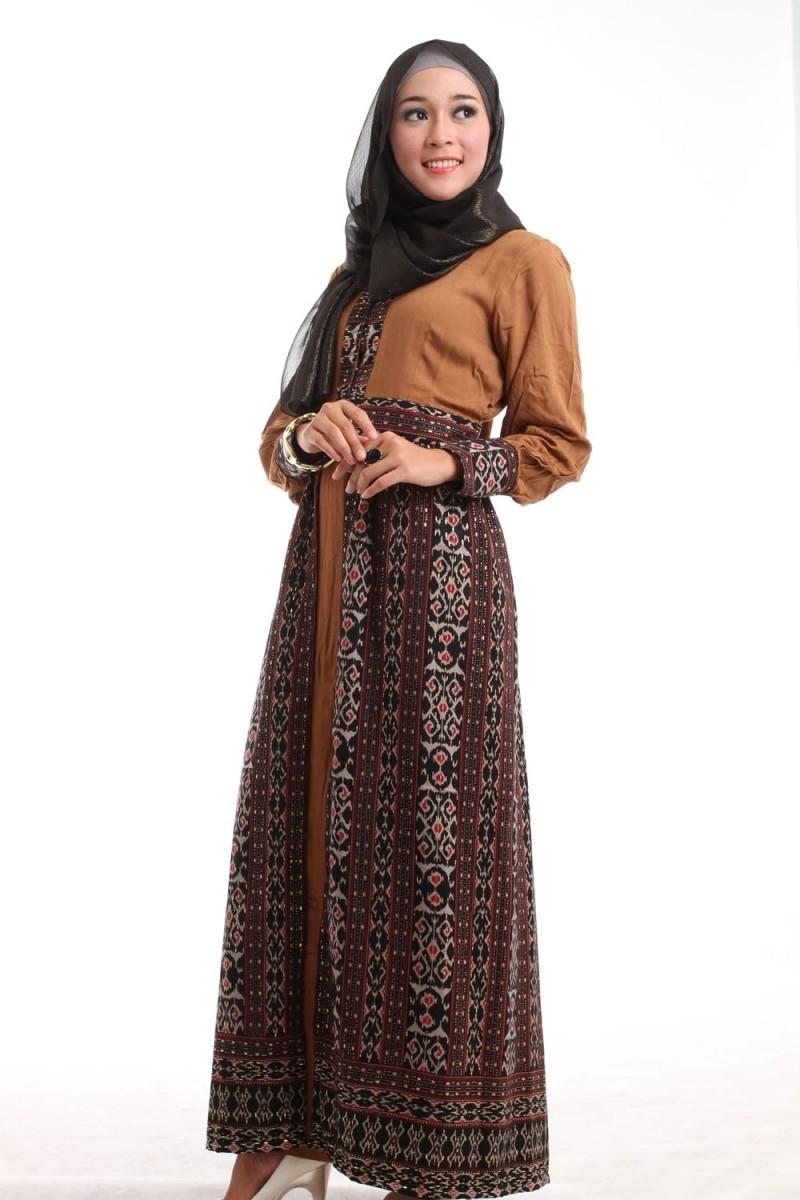 Dress Batik Muslim untuk Pesta Pernikahan