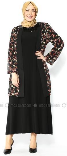 Gamis Panjang Bermotif Batik Bunga untuk Mensiasati Tubuh Gemuk Anda