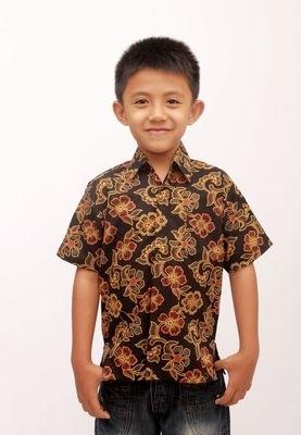 Kemeja Batik Tradisional untuk Anak Kecil