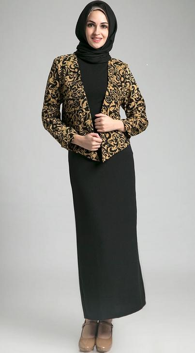 Model Baju Batik Kantor untuk Wanita Muslimah Paling Bergaya
