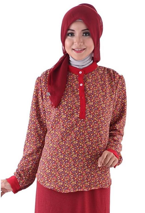 Model Baju Batik Kantor untuk Wanita Muslimah Simpel dan Modern