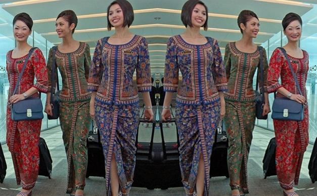 Model Baju Batik untuk Pramugari dengan Corak Tradisional