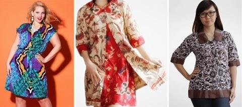 Model Baju Batik untuk Wanita Gemuk Agar Lebih Langsing
