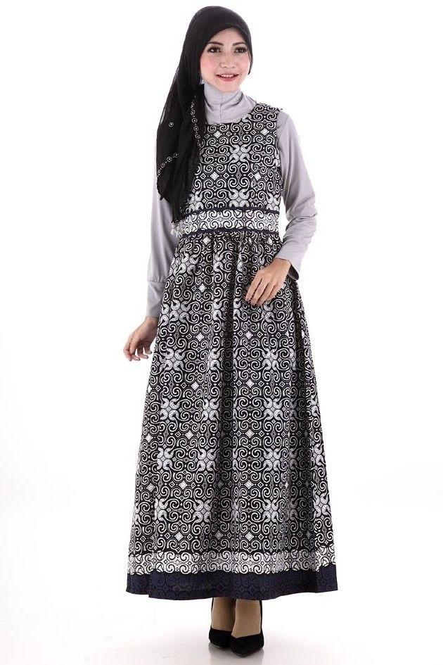 Model Baju Gamis Batik Muslimah untuk Pesta Pernikahan