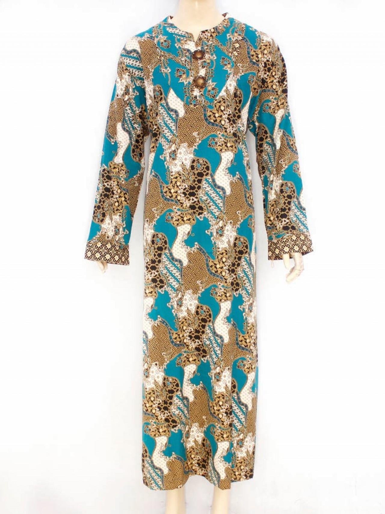 Model Baju Gamis Batik untuk Wanita Muslimah Berbadan Gemuk