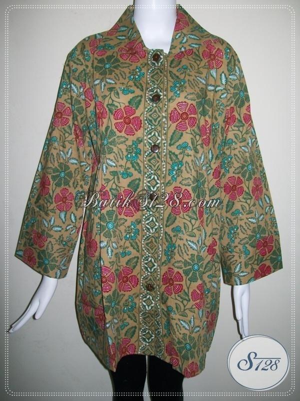 Model Baju Batik Atasan untuk Wanita Gemuk Terbaru