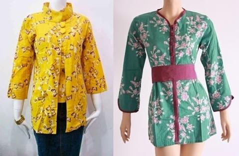 Model Baju Batik Atasan untuk Wanita Gemuk Terpopuler Saat Ini