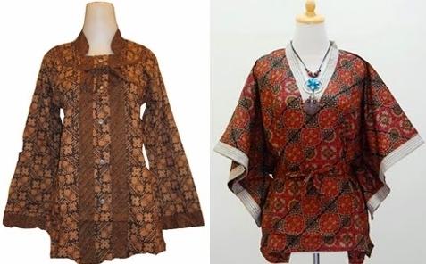 Model Baju Batik Atasan untuk Wanita Gemuk Terpopuler