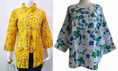 Model Baju Batik Atasan untuk Wanita Gemuk