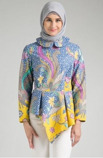 Model Baju Batik Atasan Wanita Lengan Panjang Terbaik Saat Ini