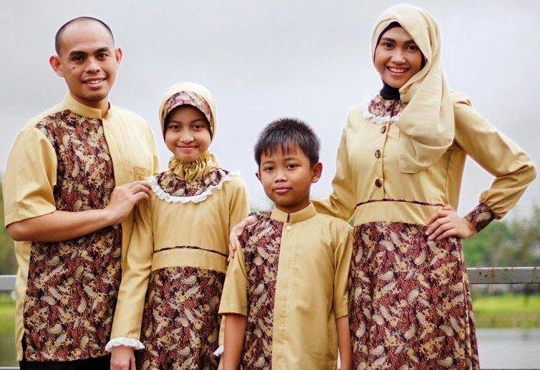 Model Baju Batik Couple untuk Keluarga Saat Hari Raya Idul Fitri