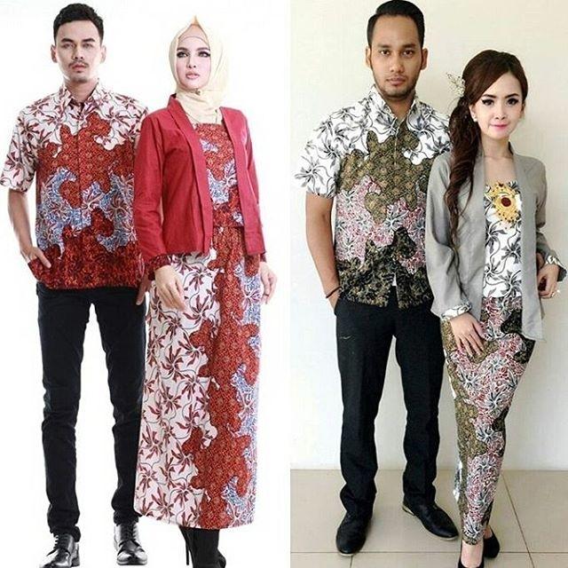 Model Baju Batik Couple untuk Pasangan Anak Muda Terbaru