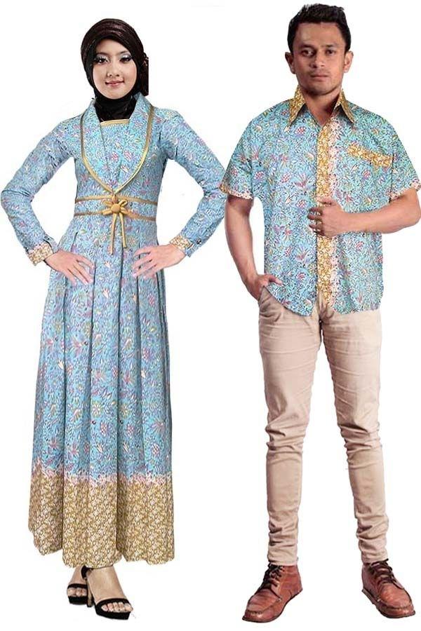 Model Baju Batik Couple untuk Pasangan Muslim Paling Keren