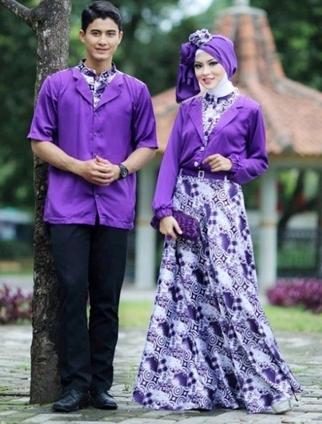 Model Baju Batik Couple untuk Pasangan Muslim Terbaru Tahun Ini