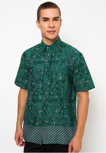 Model Baju Batik Kerja untuk Guru Laki Laki Lengan Pendek