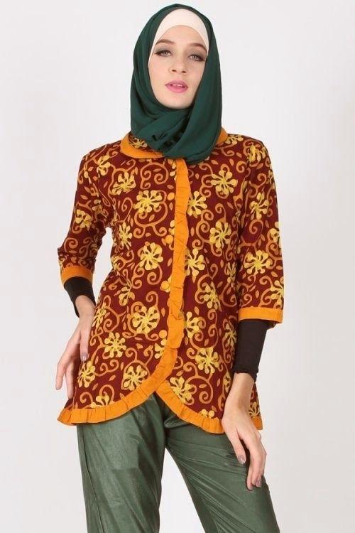 Model Baju Batik Kerja untuk Guru Wanita Terbaik