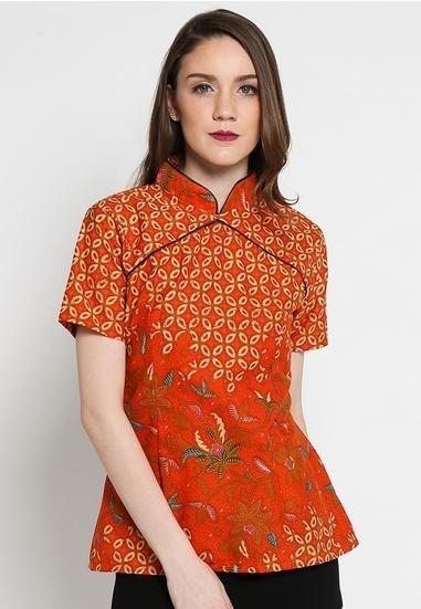 Model Baju Batik Pegawai Bank Perempuan Paling Modern