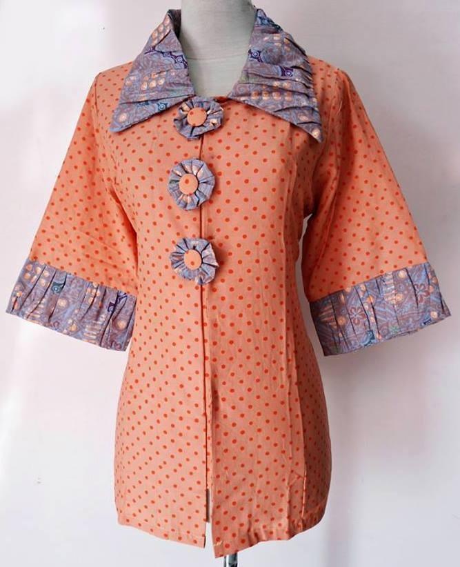 Model Baju Batik Pegawai Bank Perempuan Terbaik