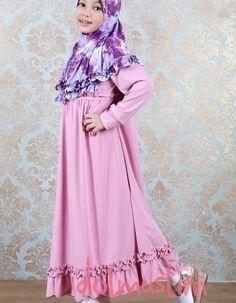 Model Baju Gamis Anak Perempuan Umur 12 Tahun Paling Syar'i