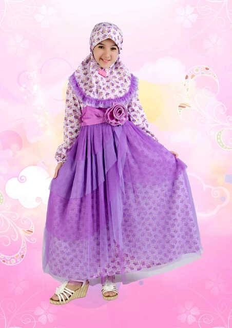 Model Baju Gamis Anak Perempuan Umur 12 Tahun Terbaru