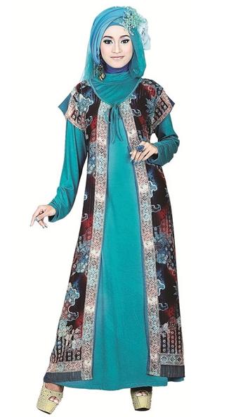 Model Baju Gamis Batik dengan Kombinasi Sifon untuk Anak Muda