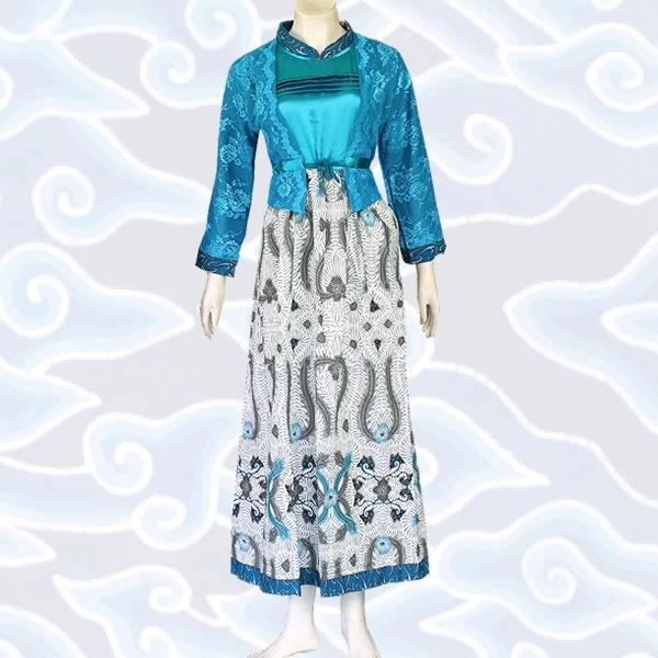 Model Baju Gamis Batik Kombinasi Kain Brokat Terbaik