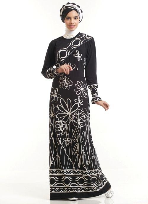Model Baju Gamis Batik Kombinasi Polos untuk Pesta Ulang Tahun