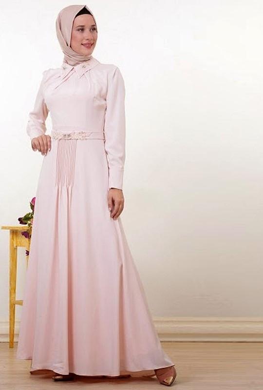 Model Baju Gamis Brokat Kombinasi Sifon Terpopuler Saat Ini