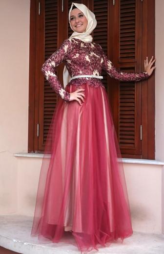 Model Baju Gamis Brokat Kombinasi Sifon