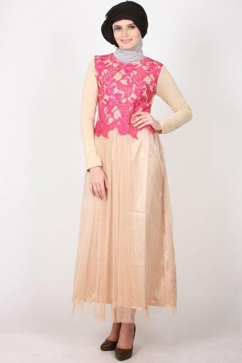 Model Baju Gamis Brokat untuk Pesta untuk Muslimah