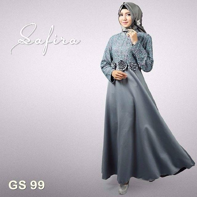 Model Baju Gamis Brokat untuk Wanita Gemuk saat Pesta