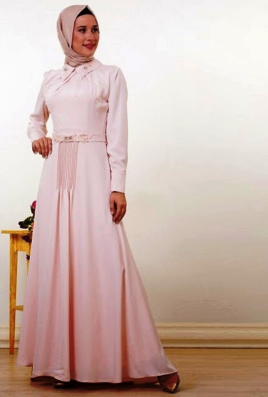 Model Baju Gamis Sifon Polos