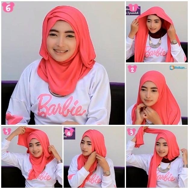 Tutorial Hijab Paris Sederhana