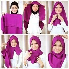 Tutorial Hijab Paris Segi Empat 2