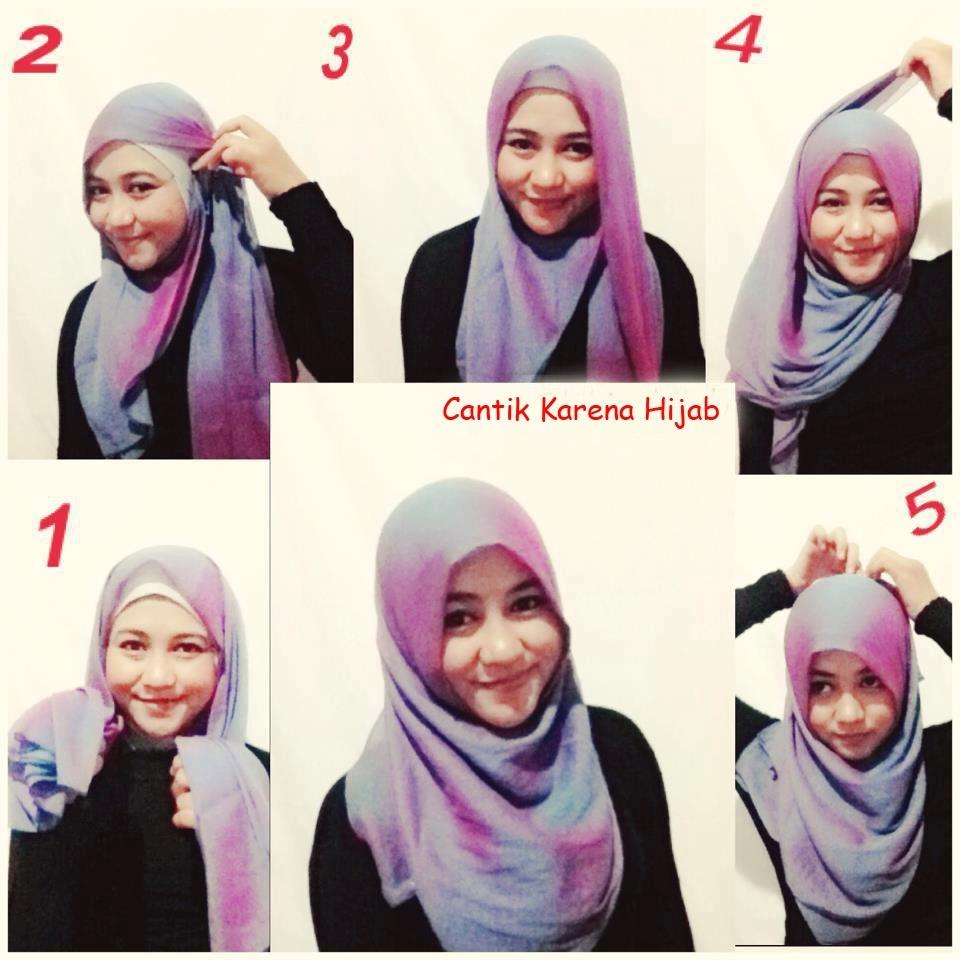 Tutorial Hijab Paris Segi Empat 4
