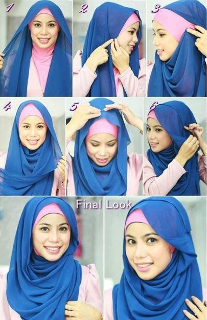 Tutorial Hijab Paris Simpel 3