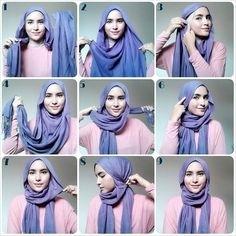 Tutorial Hijab Segi Empat untuk Pesta Simple