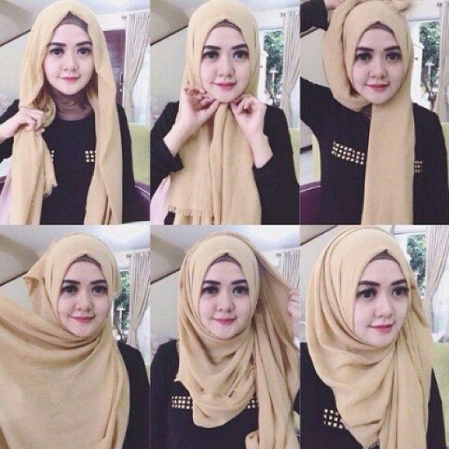 Tutorial Hijab Wisuda dengan Hijab Pashmina Syar'i